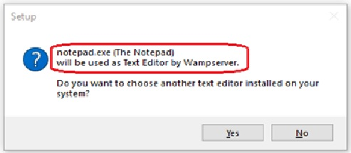 wamp server setup on windows 10