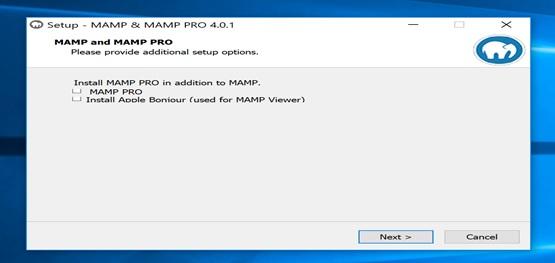 mamp server setup on windows 10