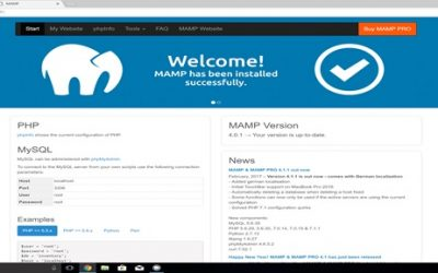 How to setup a MAMP server on windows 10