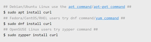 Curl command for PC